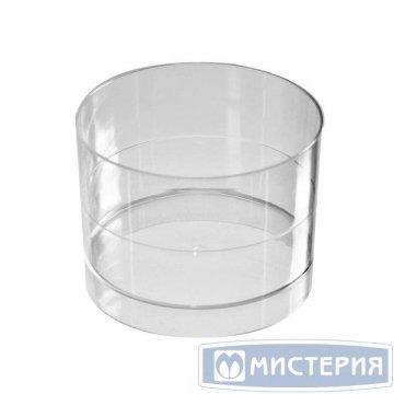Форма д/фуршетов, Чашка Ноль, 60мл, d 53мм, прозрачн., ПС 15шт/уп 14 уп/кор