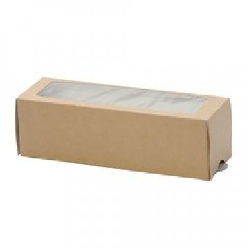 Коробка DoEco 180х55х55мм МВ 6, с окном, для Макарони, коричн. 500 шт./уп. 500  шт/кор
