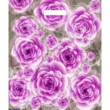Пакетпроруб.38*45см,ПВД,Сиреневые розы ламинированный 50шт./уп. 500шт./кор