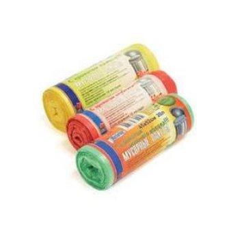 Пакеты для мусора ПЭНД окрашенные 35л. по 25шт. (520*610*0,01мм) Обезьянка