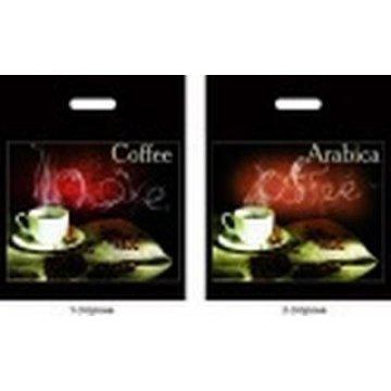Пакет проруб. 38х45 см, ПВД, Аромат кофе ламинированный 60 мкм 50шт/уп 500 шт/кор