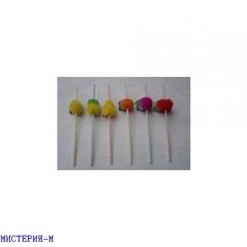 343009 Трубочки д/коктейля Фрукты гофрир., d=5мм,L=240мм, полосат. ПП 50шт/уп