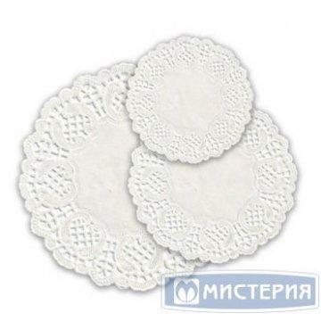 Салфетки d 12см, ажурный край, (d 12-13 cм), Бумага 50 шт/уп 40 уп/кор