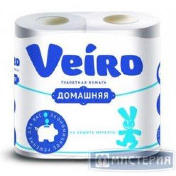 Туалетная бумага Linia VEIRO Домашняя 2сл.  4 рул/упак 12 упак/кор