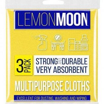 Салфетка вискозная LemonMoon 3шт. в уп. (30*38)(1/38)
