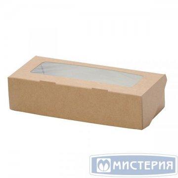 Коробка DoEco 200х120х40мм ECO TABOX 1000 gl, с окном, коричн. 50 шт/упак 300 шт/кор
