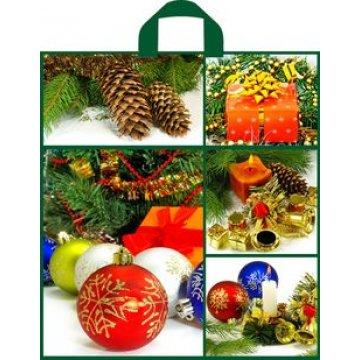 Пакет (мешок) петля 38x42см ПНД Зеленый коллаж 50 шт./уп. 300 шт./кор