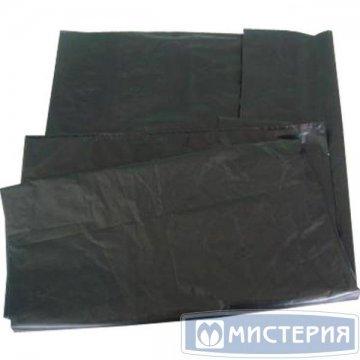 Мешок д/мусора 120л (50+20)x110см 40мкм черный ПВД 50 шт /уп 400 шт/меш