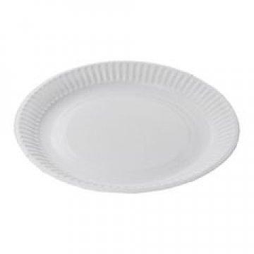 Тарелка d 230мм, 230г/м2, бел., мелован. картон 100шт/уп 1000шт/кор
