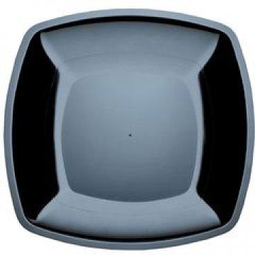 183207ч Тарелка-блюдо, квадратная Черная, 300мм ПП 3шт/уп, BUFFET
