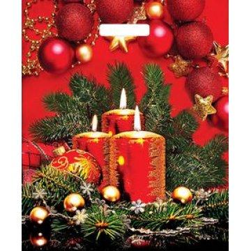 Пакет проруб. 38х45см, ПВД, Новогодний салют, ламинат, 60мкм 50шт/уп 500шт/кор