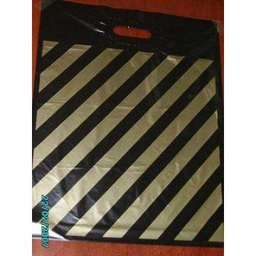Пакет (мешок)  проруб. 38х46см, ПВД, ПОЛОСА (рисунок с одной стороны) 50  шт/уп 500  шт/кор