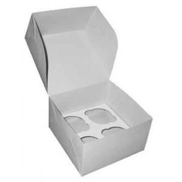 Короб Pasticciere, 160х160х100мм Cup 4 для Капкейков, белый 100  шт/уп 100  шт/кор