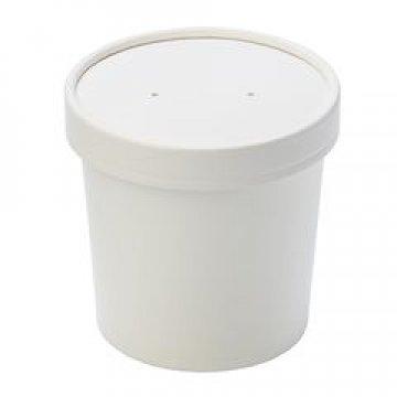 Упаковка DoEco d-70мм, h-85мм, 340мл ECO SOUP 12W, для супа, белая 250 шт /упак 250 шт./кор