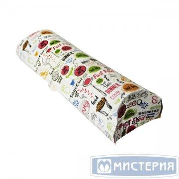 Коробка д/роллов, 70х200х55мм, ECO PILLOW ENJOY, с печатью, картон 500шт./уп. 500шт./кор.