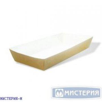 Лоток(коробка) для фаст-фуда 180х80х30мм крафт без печати 220 шт/уп 220 шт./кор