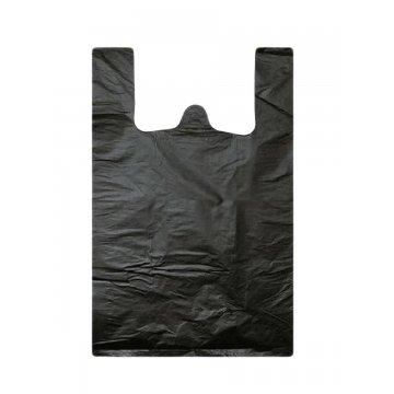 Пакет из ПЭНД 30/7.5*55 (13мкм) майка черная 1000шт/кор 200шт/упак