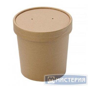 Упаковка DoEco d-75мм, h-100мм, 445мл ECO SOUP 16С, для супа, корич. 250 шт./уп. 250 шт./кор