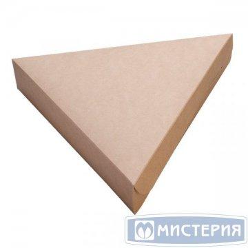 Коробка под пиццу треугольная, картон цвет крафт, ECO PIE,800 мл 220х200х40мм 600 шт/уп 600 шт/кор
