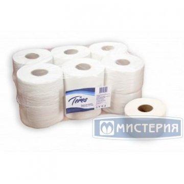 Бумага туалетная d 16см, 200м, 1 сл., бел., Бумага 1рул/уп 12рул/кор
