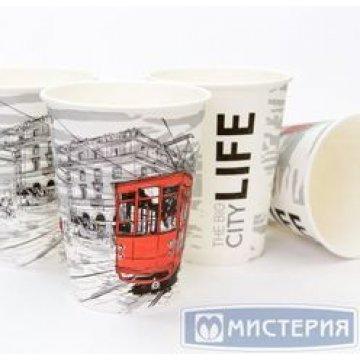 Стакан бумажный 300 мл(1000шт/кор)(Big Citi life, 300/D90xD60xH111)