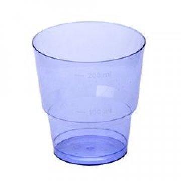 Стакан д/хол., 0.20л, кристалл, ПС, синий 50 шт/уп 1000 шт/кор