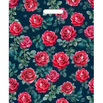 Пакет (мешок) проруб. лам. ПВД 45х38см, 60мкм, Сказочные розы 50 шт./уп. 500  шт./кор