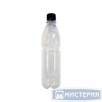 ПЭТ бутылка, прозрачн., 0,5 л,  h 239 мм,  d 64,4 мм, с крышкой 100 шт./уп. 100 шт./кор
