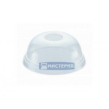 Крышка пластиковая D95мм. купольная с отверстием L95DH, 1х50шт. (32/1)