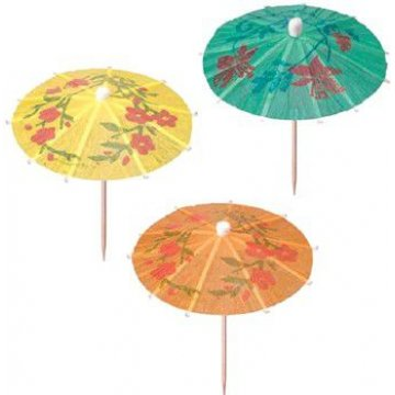 Пика деревянная  Зонтик для мороженного   100мм. (1уп.х144шт.) (х100)