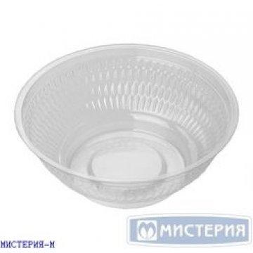 Контейнер круглый внеш. d-155мм, h-60мм, (емкость) 650мл, прозрачный, (46950) ОПС 400шт/кор