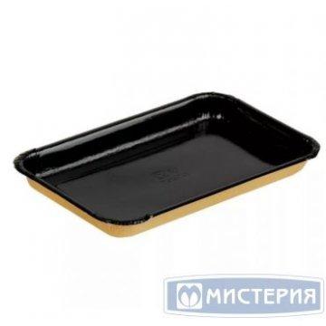 Лоток для кулинарии, нарезок,овощей 220х140х20мм ECO PLATTER 400 BE корич/черн. 300 шт/уп 300 шт/кор
