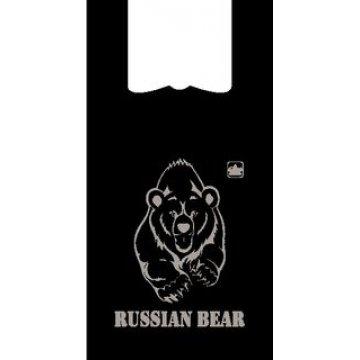 Пакет майка 30+18х58см, ПНД, Русский медведь  1000 шт/уп  1000 шт/кор.