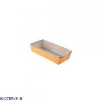 Упаковка д/хот-дога, картошки фри 800 мл, 190х85х42мм, коричн., картон 300 шт./уп. 300 шт./кор