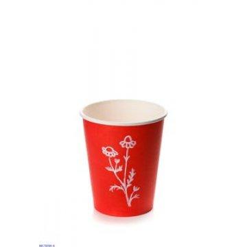 Стакан бумажный 300мл (1000 шт/кор),(Красный Red, 300/D90*D60*H111)