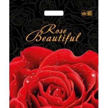 Пакет проруб. 38х45см, ПВД, Прекрасная роза ламинированный 60мкм  50  шт/уп  500  шт/кор