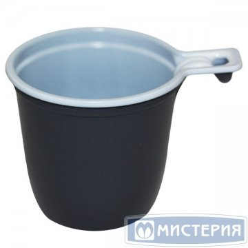 Чашка д/хол./гор., 0.2л, коричн./бел., ПП 50 шт/уп 1 000 шт/кор