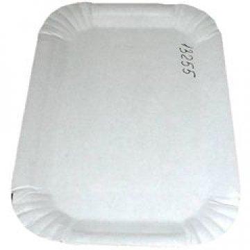 Тарелка, 130х200мм, толщ.0.35-0.40мм, бел., картон  100 шт/уп  1800 шт/кор
