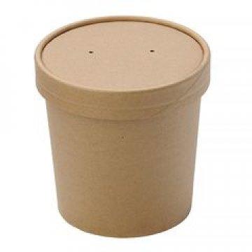 Упаковка DoEco d-75мм, h-100мм, 445мл ECO SOUP 16W, для супа, белая 250 шт /упак 250 шт./кор.