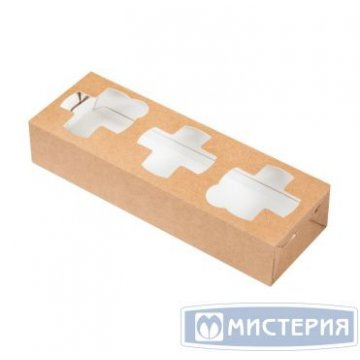 Держатель для 3-х стаканов, крафт 300 шт/уп 300 шт/кор