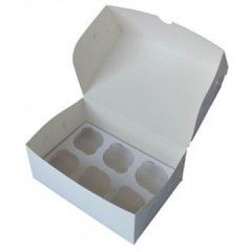 Короб Pasticciere, 250х170х100мм Cup 6 для Капкейков, белый 100  шт/уп 100  шт/кор