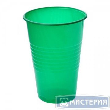 Стакан 0.2л, зелён., ПП 100 шт/уп 4 000 шт/кор