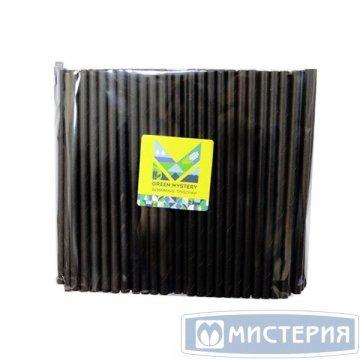 Трубочки бумажные Black, цвет чёрный, d=8мм L = 195мм 250 штук/упак 20 упак/кор