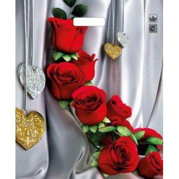 Пакет проруб. 38х45см, ПВД, Цветы страсти ламинированный 60мкм  50  шт/уп  500  шт/кор