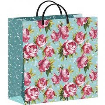Пакет Розовые пионы-мягкий пластик 30х30 - 140 мкм 20 шт/упак 20 шт/кор
