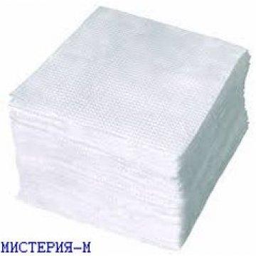 Салфетки бумажные  неокрашенные 100 штук в пачке, производства РБ