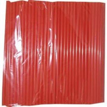 Трубочка полимерная д/напитков  8*240 (1кор/20уп/250шт) красная