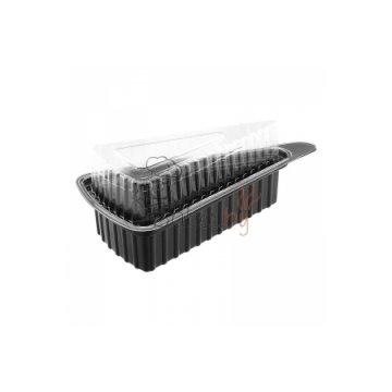 Упаковка под кусочек пирога 001600033 дно черн (800шт/кор)