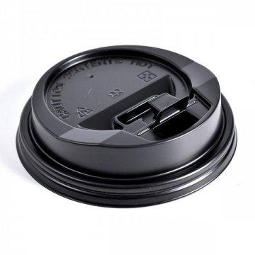 Крышка с питейником 80 мм КД-204 черная (2000шт/кор)