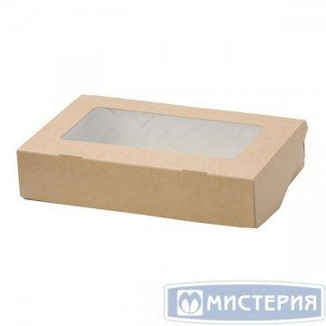 Коробка DoEco 170х70х40мм ECO TABOX 500 gl, с окном, коричн. 400 шт/упак 400 шт/кор